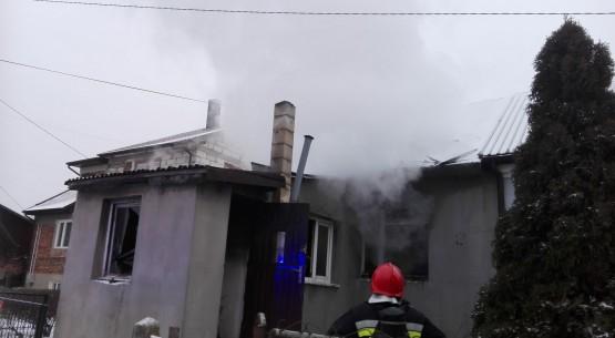 Pożar budynku, Kielce (1)
