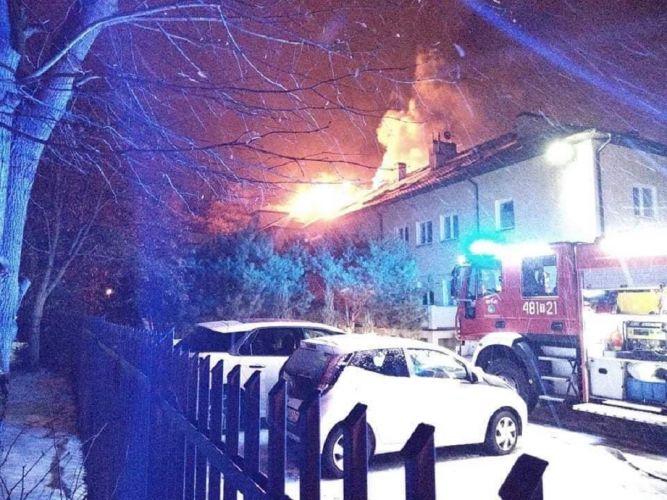 Pożar budynku, Skarżysko-Kamienna (4)