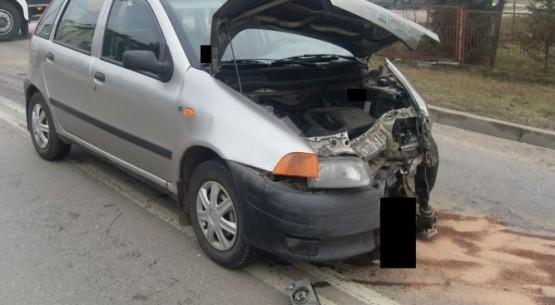 Zderzenie dwóch aut, Busko-Zdrój (3)