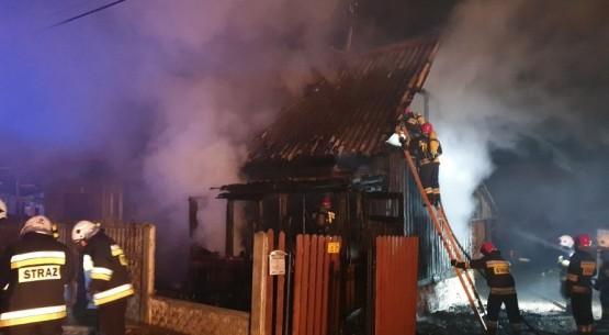 Pożar budynku mieszkalnego, JRG Skarżysko (3)
