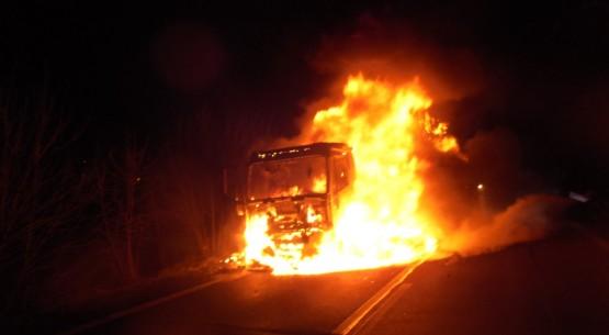 Pożar ciężarówki, Ostrowiec Św (3)