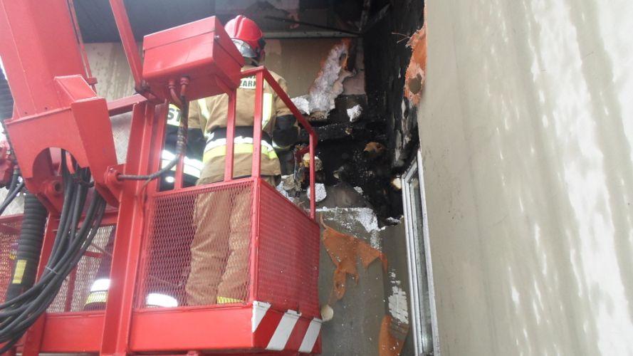 Pożar domu w Kocinie (2)