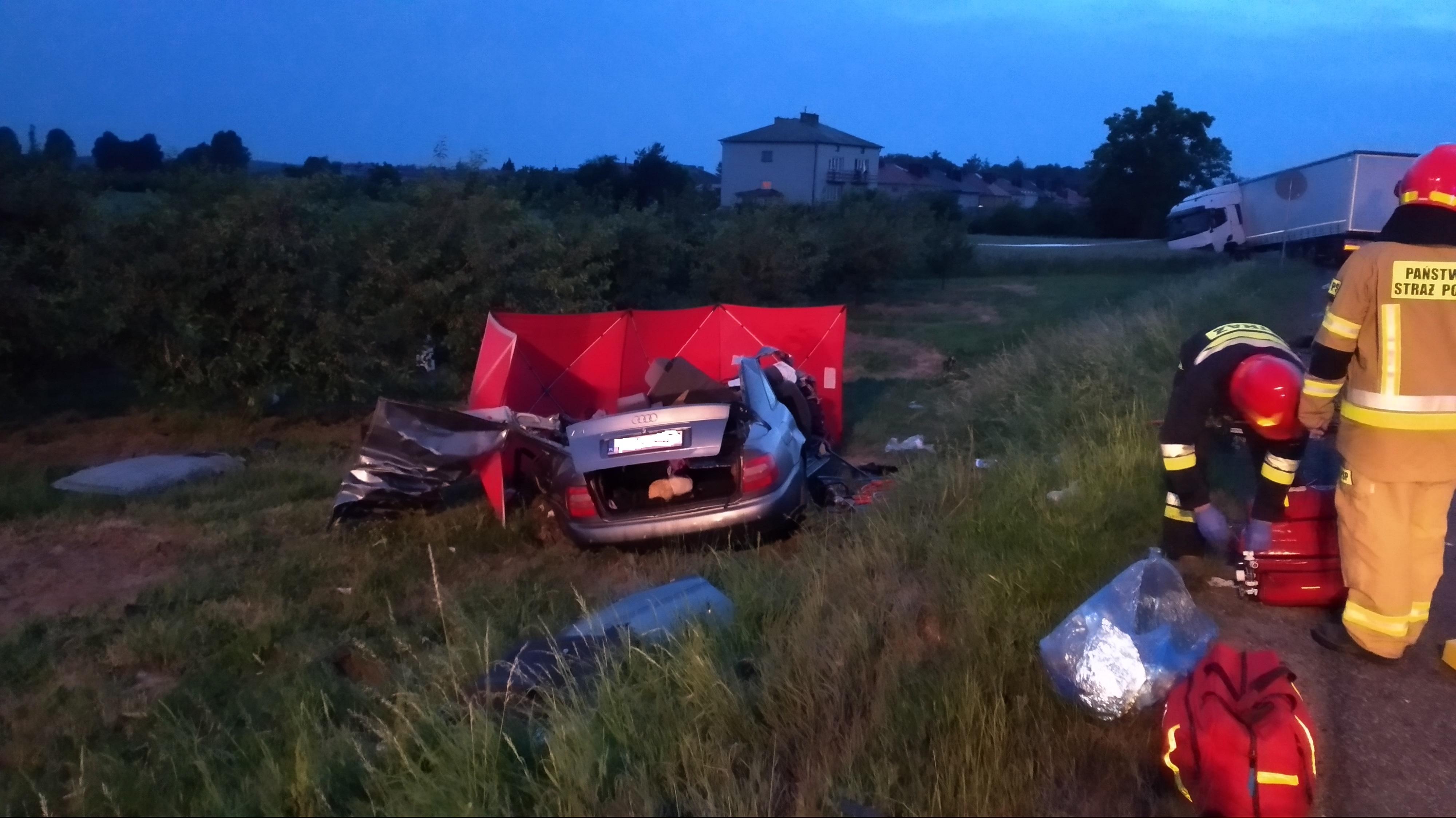 Śmiertelny wypadek w Jacentowie (1)