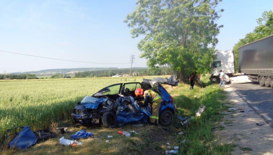 Wypadek, PSP Pińczów (1)