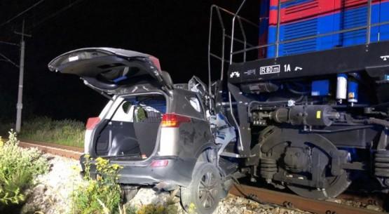 Wypadek na niestrzeżonym przejeździe kolejowym, PSP Sandomierz (1)