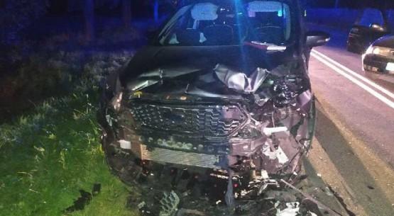 Pijany kierowca spowodował poważną kolizję w powiecie pińczowskim 02
