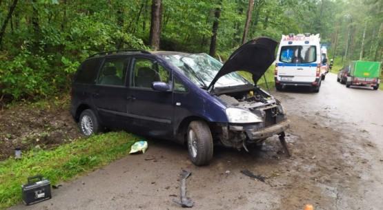 Wypadek na drodze na Włoszczowę