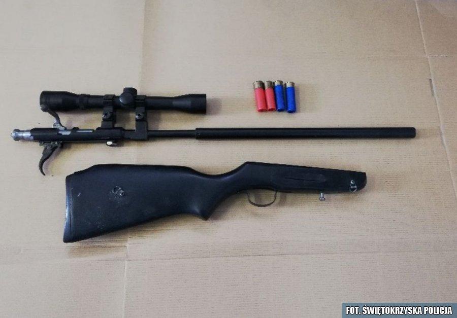 Zatrzymany posiadacz nielegalnej broni i amunicji