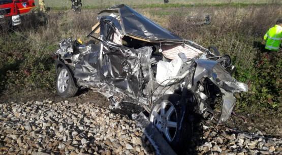 Śmiertelny wypadek na przejeździe kolejowym, Ludynia (4)