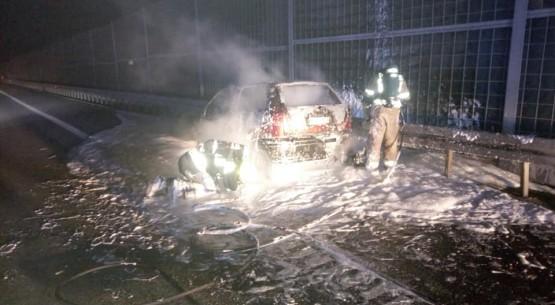 Pożar osobówki, OSP Chęciny (3)