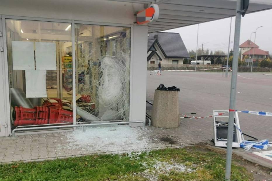 Wysadzony bankomat w Kielcach