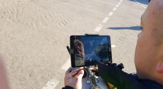 Policyjny dron w Opatowei (4)
