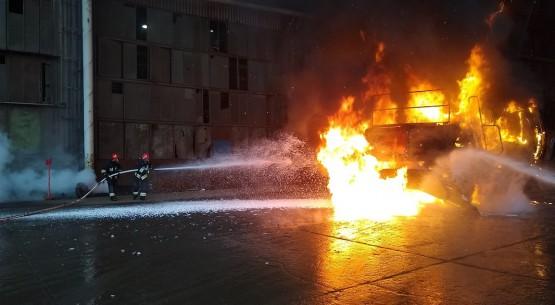Akcja gaszenia ładowarki (2)