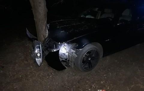 Kolizja auta, OSP Piekoszów (1)