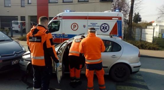 Kierowca doznał ataku epilesji (1)