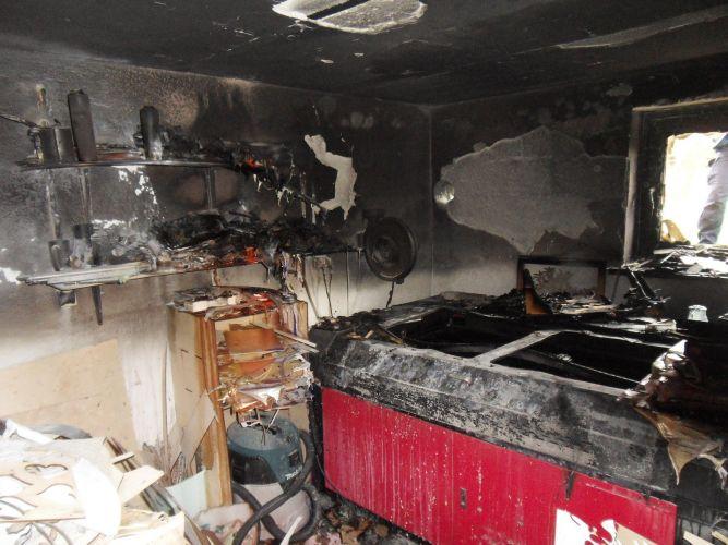 Pożar piwnicy w Pacanowie