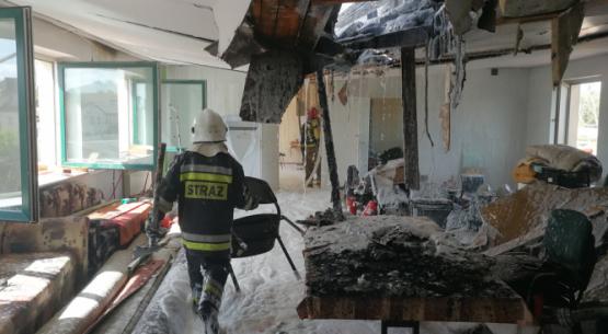 Pożar tartaku w Suchedniowie (3)