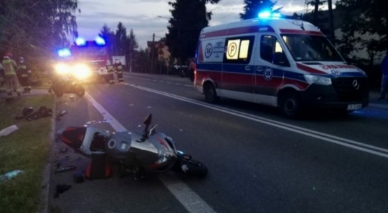 Zderzenie dwóch motocyklistów (1)