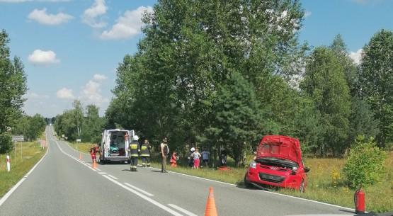 Zdarzenie drogowe w Smykowie koło Czermna