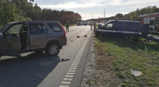 Karambol z udziałem policyjnego radiowozu, Kielce (6)