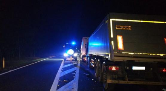 Wypadek samochodów ciężarowych