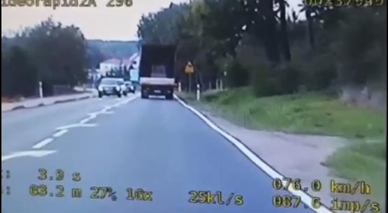 Nietrzeźwy kierowca ciężarówki