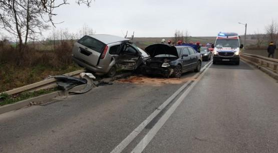 Zderzenie dwóch aut, Pawłów (1)